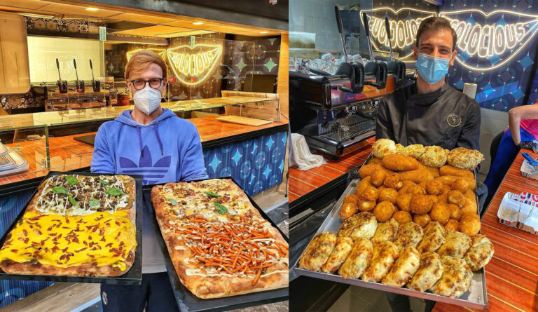 Portici, arriva la pizza in teglia Golocious degli influencer Falcone e Jana